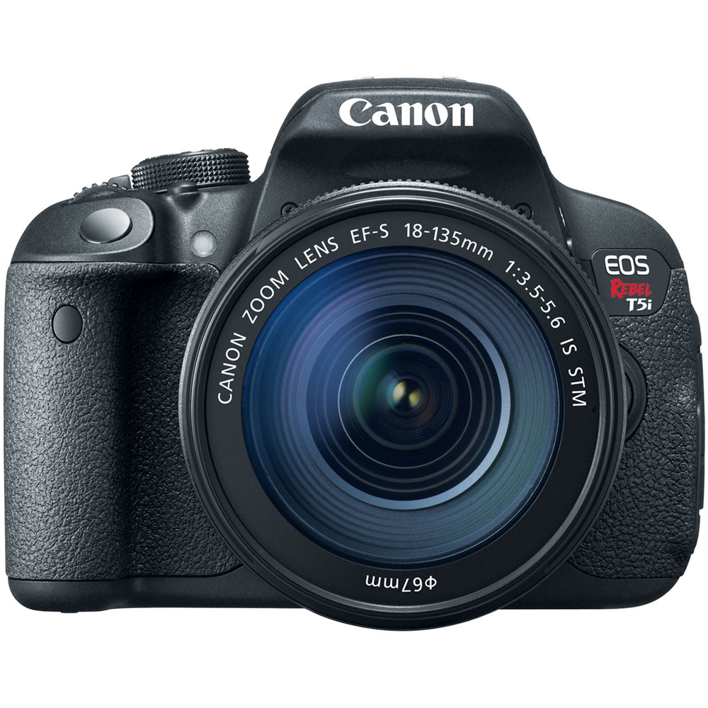 EOS Rebel T5i 18MP Digital SLR Camera Body and EF-S 18-135mm f/3.5-5.6 IS STM Lens