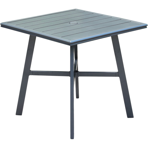 "Commercial Aluminum 30"" Square Slat Top Table"