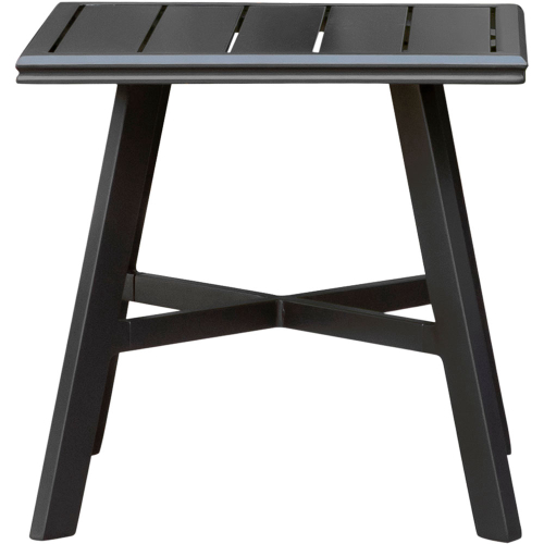 "Commercial Aluminum 22"" x 22"" Slat-top Side Table"