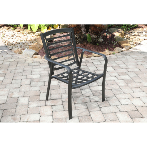 Edgemont Commercial Aluminum Dining Chair LIFESTYLE1