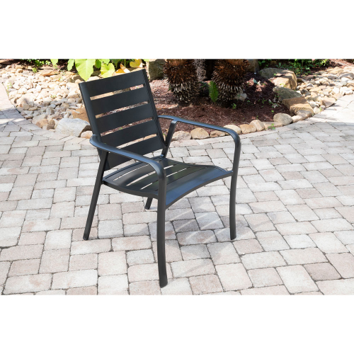 Commercial Aluminum Slat Back Chair S/1
