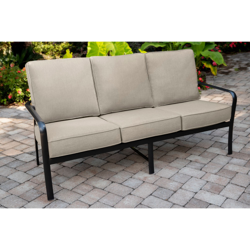 Fairhill Commercial-Grade Aluminum Sofa with Plush Sunbrella Cushions LIFESTYLE1