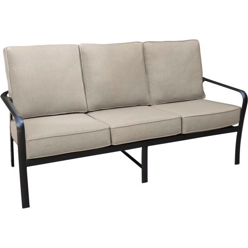 Fairhill Commercial-Grade Aluminum Sofa with Plush Sunbrella Cushions