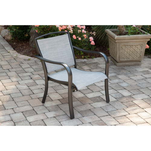 Richmond Commercial Sling Aluminum Chat Sling Chair LIFESTYLE1