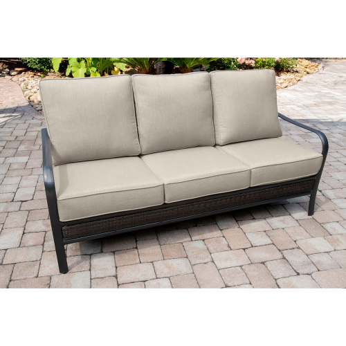 Commercial Aluminum Woven Sofa With Sunbrella Cushions