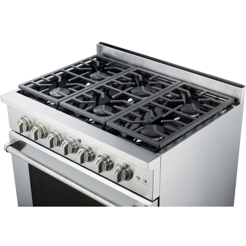 36-In. Culinary Series Professional Style Gas Range in Stainless Steel ANGLE