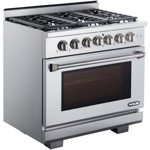 36-In. Culinary Series Professional Style Gas Range in Stainless Steel LEFT