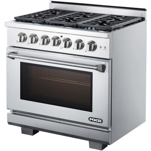 36-In. Culinary Series Professional Style Gas Range in Stainless Steel RIGHT