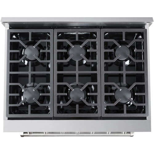 36-In. Culinary Series Professional Style Gas Range in Stainless Steel TOP