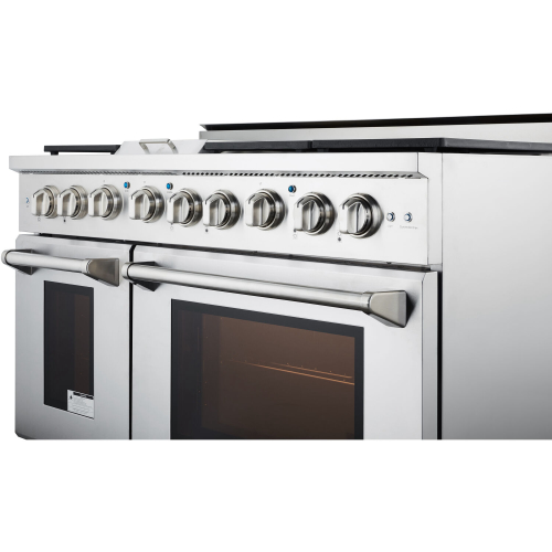 48-In. Culinary Series Professional Style Gas Range in Stainless Steel ANGLE