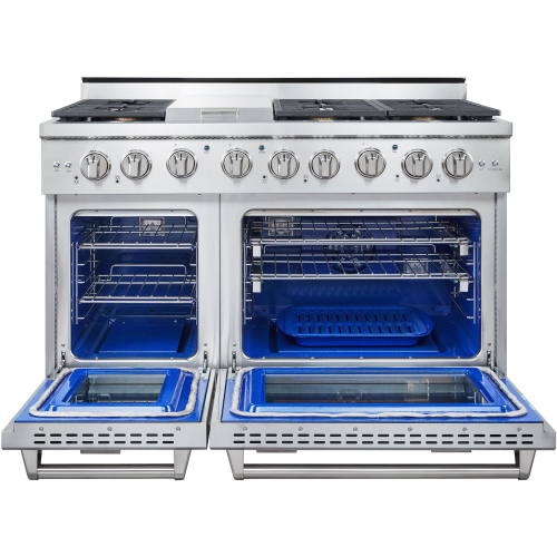 48-In. Culinary Series Professional Style Gas Range in Stainless Steel OPEN