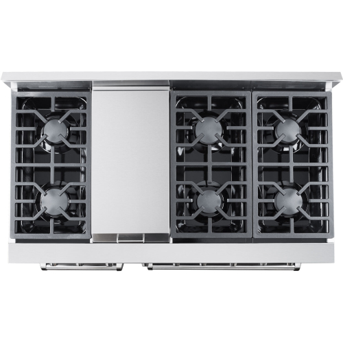 48-In. Culinary Series Professional Style Gas Range in Stainless Steel TOP
