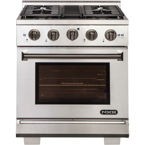 30-In. Culinary Series Professional Style Gas and Electric Dual Fuel Range, Stainless Steel