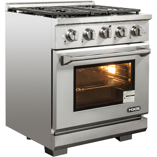 30-In. Culinary Series Professional Style Gas and Electric Dual Fuel Range, Stainless Steel IMAGE