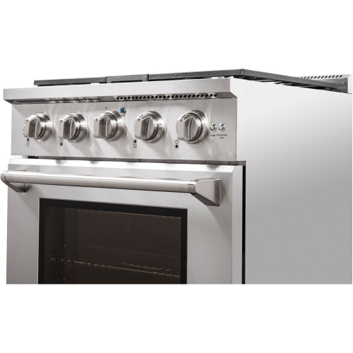 30-In. Culinary Series Professional Style LP Gas and Electric Dual Fuel Range, Stainless Steel IMAGE