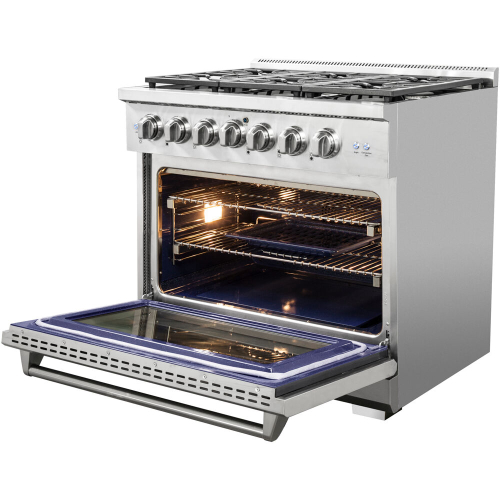 36-In. Culinary Series Professional Style Gas and Electric Dual Fuel Range, Stainless Steel IMAGE
