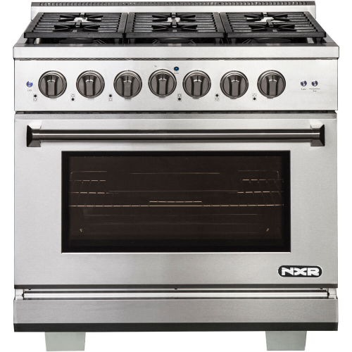 36-In. Culinary Series Professional Style LP Gas and Electric Dual Fuel Range, Stainless Steel