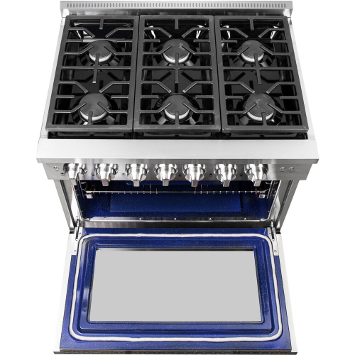 36-In. Culinary Series Professional Style LP Gas and Electric Dual Fuel Range, Stainless Steel IMAGE