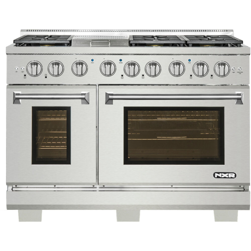 48-In. Culinary Series Professional Style Gas and Electric Dual Fuel Range, Stainless Steel