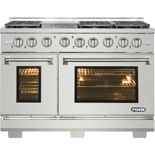 48-In. Culinary Series Professional Style Gas and Electric Dual Fuel Range, Stainless Steel IMAGE