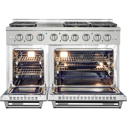 48-In. Culinary Series Professional Style LP Gas and Electric Dual Fuel Range, Stainless Steel IMAGE