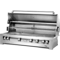 56-In. Liquid Propane Gas Built-In Grill OPEN