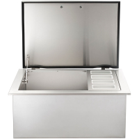 Built-In Ice Chest with Speed Rail OPEN